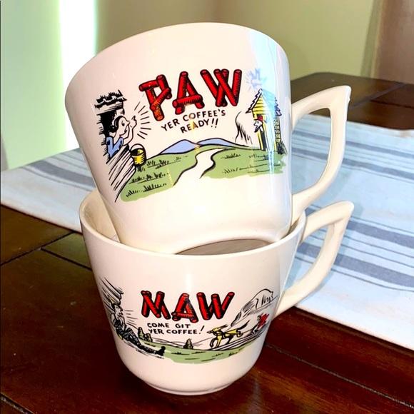 Maw And Paw Coffee Mugs Vintage